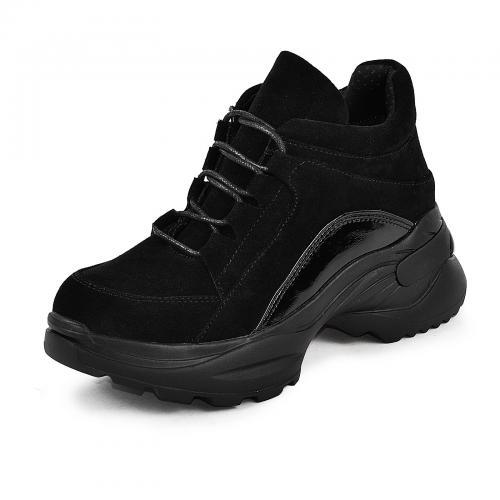 Ботинок Роуз черный замш