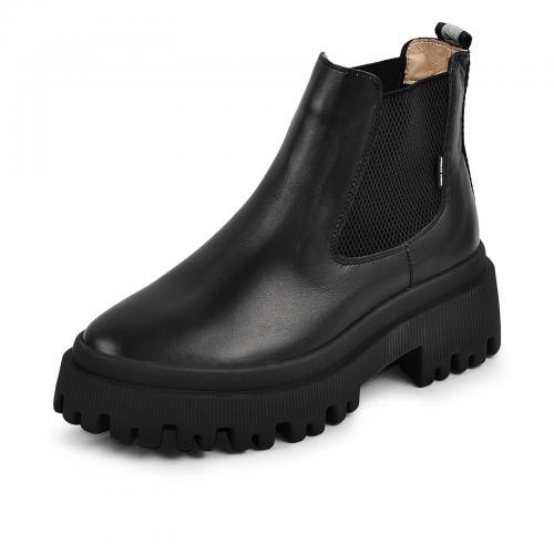 Ботинок Санта черная кожа Ч