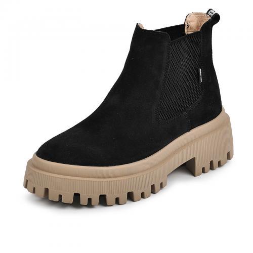 Ботинок Санта черный замш