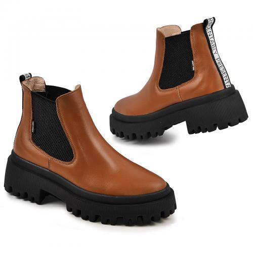 Ботинок Санта табак кожа