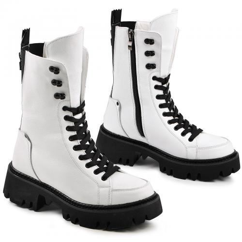 Ботинок Бона белый флотар