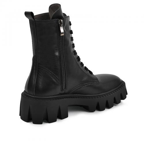 Ботинок Донна черная кожа