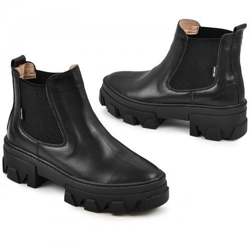 Ботинок Мия черная кожа