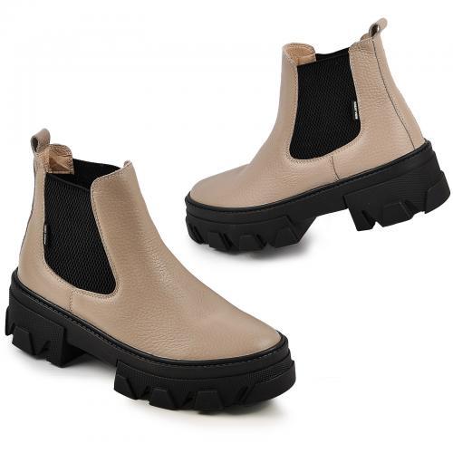 Ботинок Мия бежевый флотар