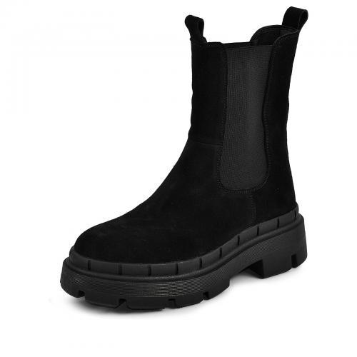 Ботинок Тина черный замш