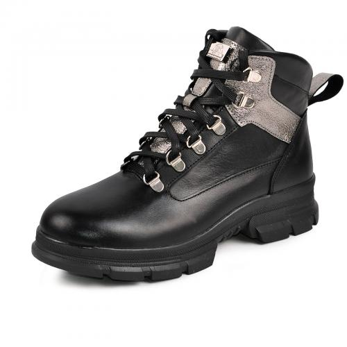 Ботинок 21975 черная кожа