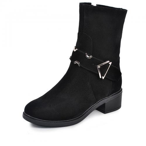 Ботинок 29151 черный замш