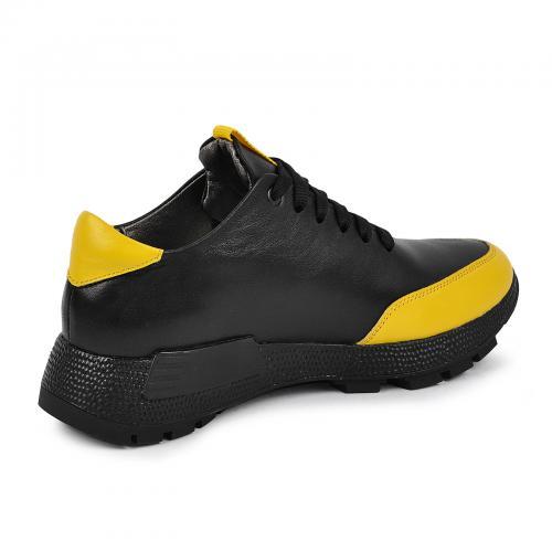 347 черная/желтая кожа