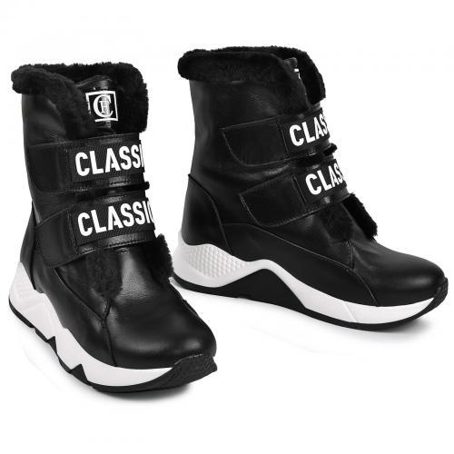 Ботинок 79 черная кожа
