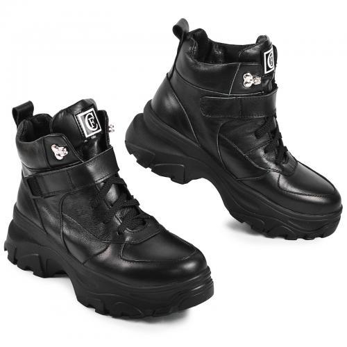 Ботинок 35 черная кожа