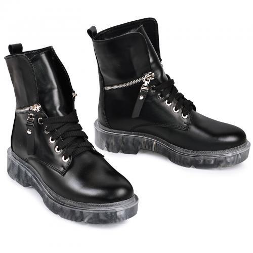 Ботинок 525 черная кожа