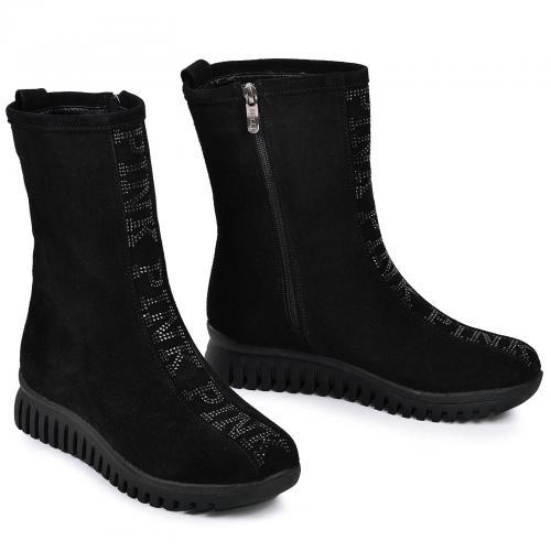 Ботинок 762 черный замш