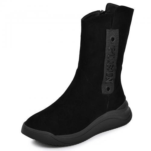 Ботинок Джесика черный велюр