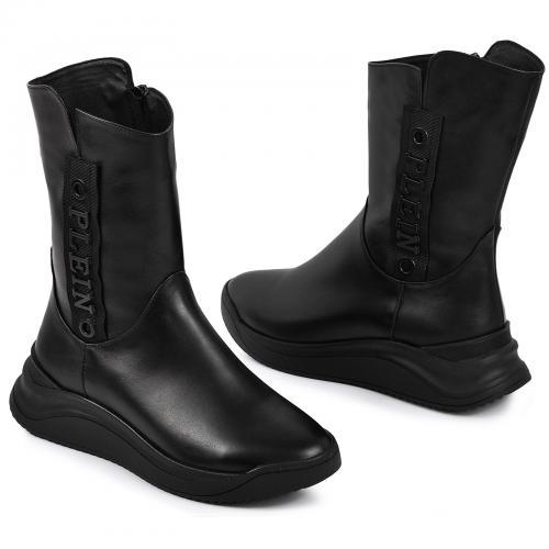 Ботинок Джесика черная кожа