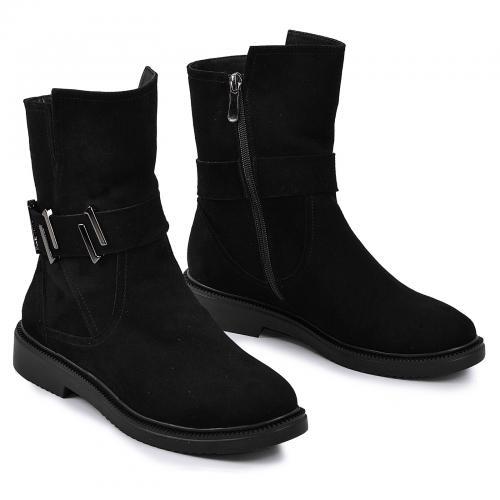 Ботинок Джейн черный велюр