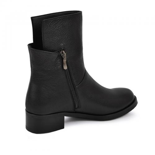 Ботинок Моник черная кожа ш