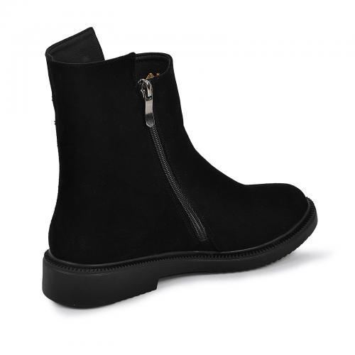 Ботинок Вика черный велюр