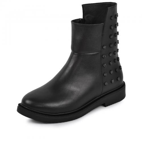 Ботинок Вика черная кожа