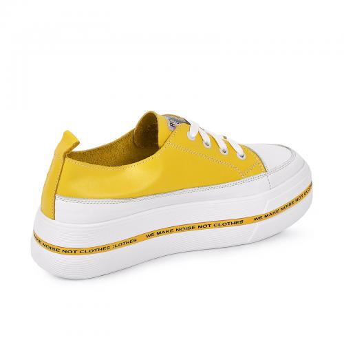 М 146 бело/желтая кожа