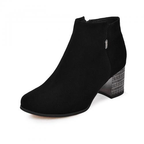 Ботинок Пенелопа черный замш