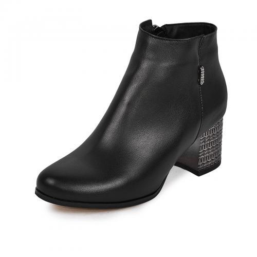 Ботинок Пенелопа черная кожа