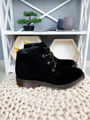 Ботинок 305 черный замш