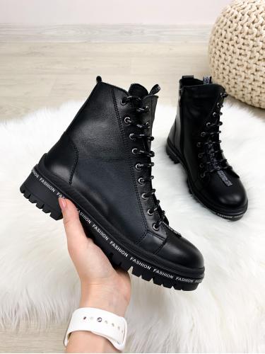 Ботинок Кенди черная кожа