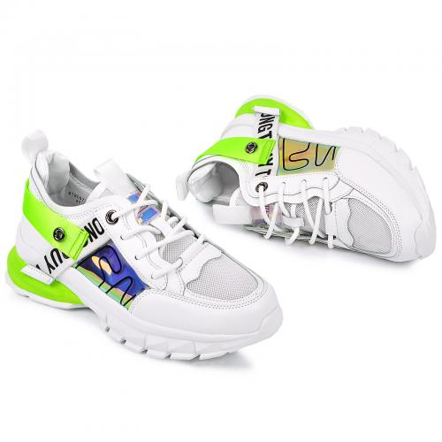 Кроссовки СТ 807 бел/зеленые