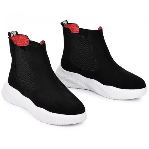 Ботинок Челси -1 черный замш