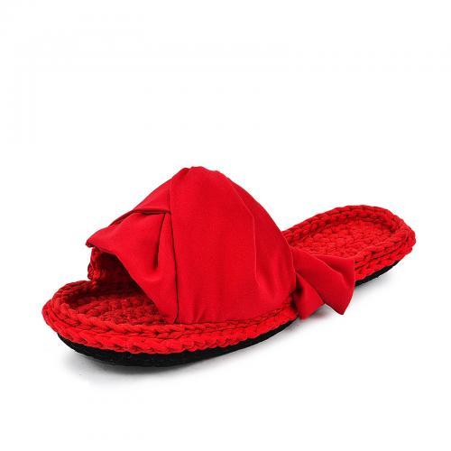 Тапочки красные лента