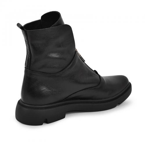 Ботинок 320 черная кожа ш