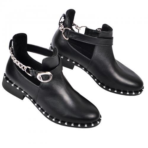 Ботинок 329 черная кожа