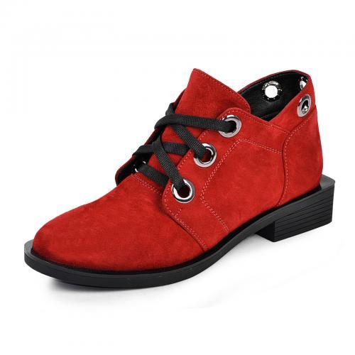 Ботинок 333 красный замш