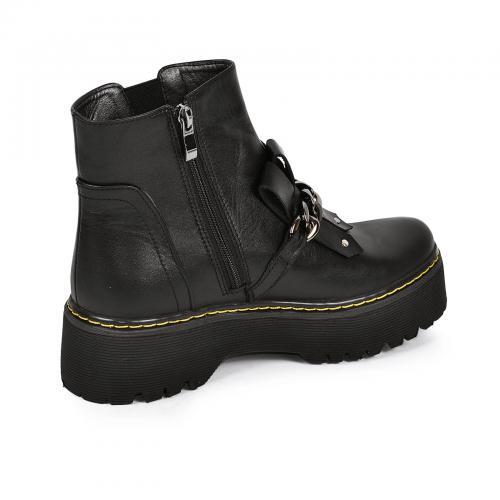 Ботинок Гиза черная кожа