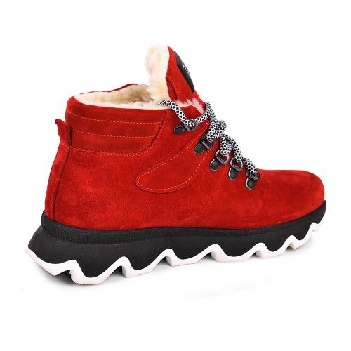 Ботинок Комфорт М красный замш