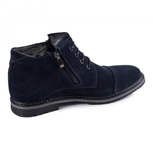 Ботинки 106 синий замш