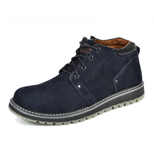 Ботинки 82 синий нубук
