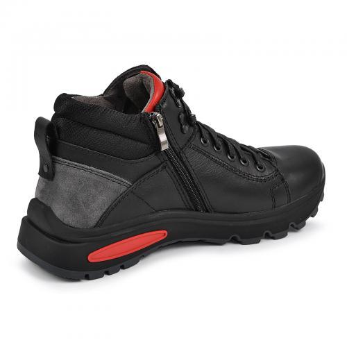 Ботинки ФБ 2 черная кожа