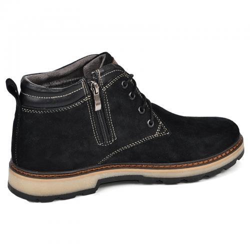 Ботинки Файф черный замш