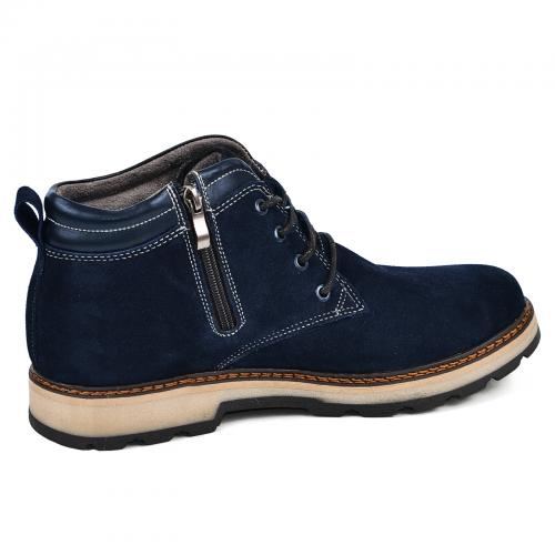 Ботинки Файф синий замш