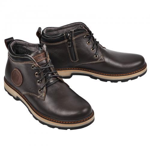 Ботинки Файф коричневая кожа