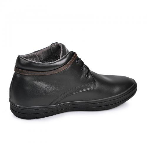 Ботинки Фози черная кожа кор