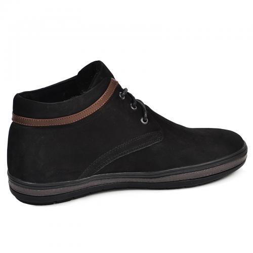 Ботинки Фози черный нубук кор