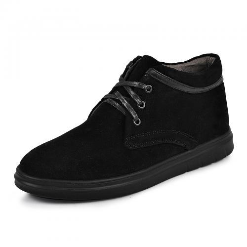 Ботинки Фози черный замш