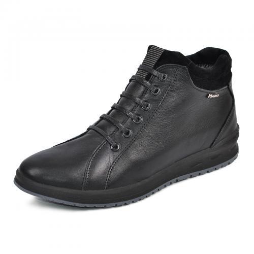 Ботинки Рекс-2 черная кожа
