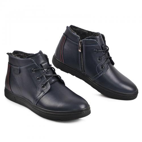 Ботинки РК-3 Ш cиняя кожа