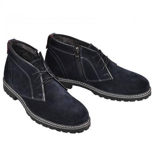 Ботинки Роки каб синий замш