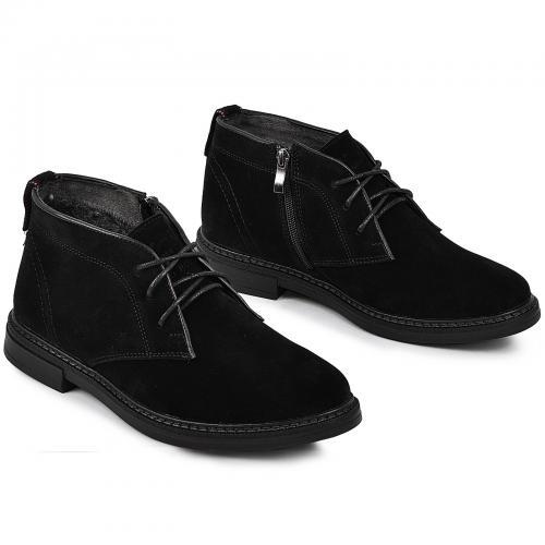 Ботинки Роки  каб черный замш