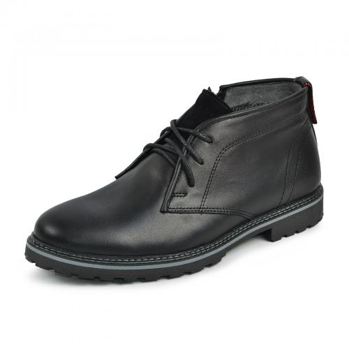 Ботинки Роки каб черная кожа