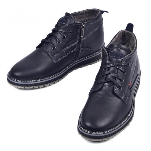 Ботинки Вебстер синяя кожа